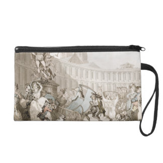La Place des Victoires, Paris, c.1789 (pen and ink Wristlet Clutches