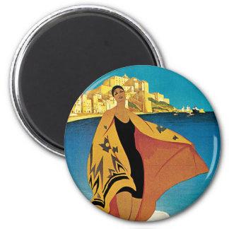 La Plage de Calvi, Corse 6 Cm Round Magnet