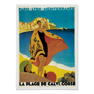 La Plage de Calvi, Corse Poster