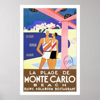 La Plage de Monte Carlo Poster