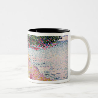 La Plage de Saint-Clair, 1906-07 Two-Tone Coffee Mug