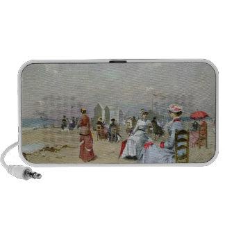 La Plage de Trouville Portable Speaker