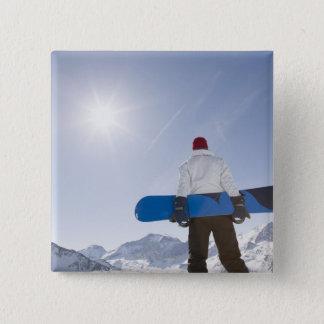 La Plagne, French Alps, France 15 Cm Square Badge