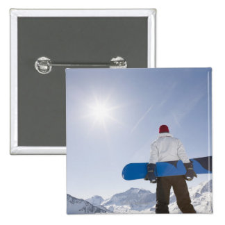 La Plagne, French Alps, France 15 Cm Square Badge