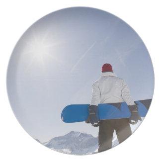 La Plagne, French Alps, France Plate