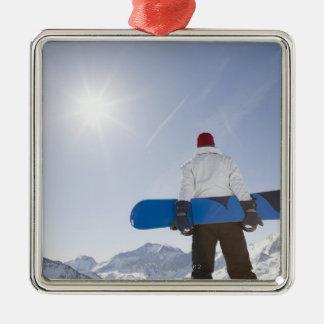 La Plagne, French Alps, France Silver-Colored Square Decoration