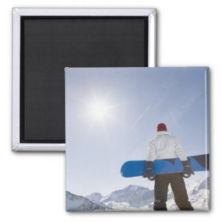 La Plagne, French Alps, France Square Magnet