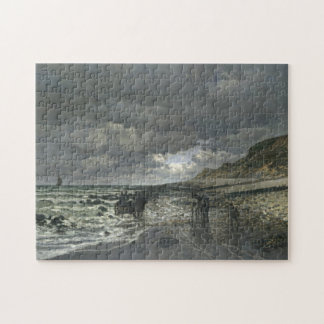La Pointe de la Hève Low Tide Monet Fine Art Jigsaw Puzzle