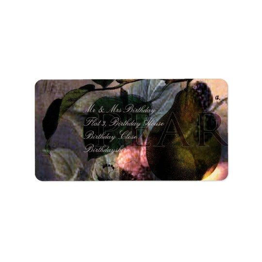 La Poire #2 Address Label