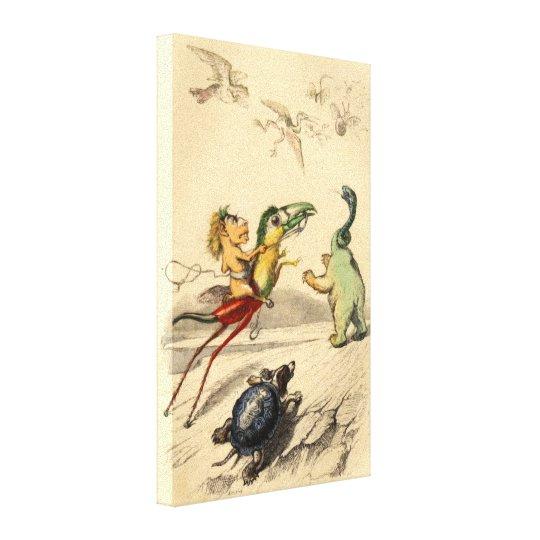 La Poursuite (The Chase) Canvas Print