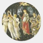 La Primavera by Sandro Botticelli Round Stickers