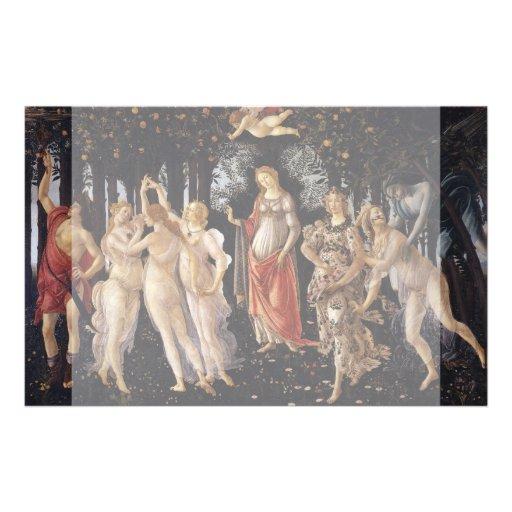 La Primavera (Spring) by Sandro Botticelli Flyer Design