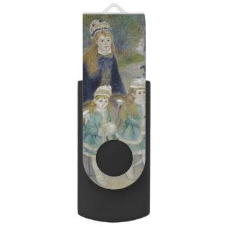 La Promenade by Pierre-Auguste Renoir Swivel USB 2.0 Flash Drive