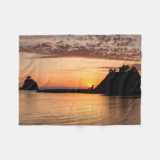 La Push, Washington. Panorama Fleece Blanket