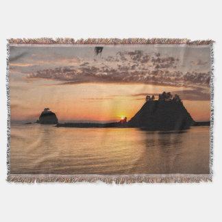 La Push, Washington. Panorama Throw Blanket