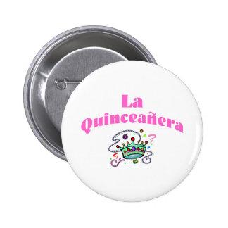 La Quinceanera 6 Cm Round Badge