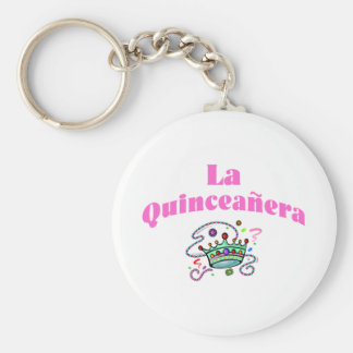 La Quinceanera Basic Round Button Key Ring
