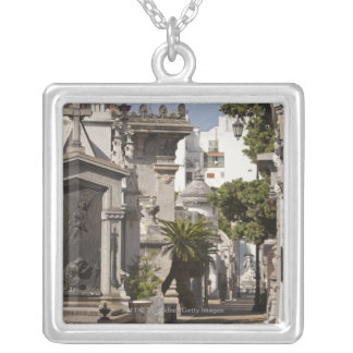 La Recoleta Cemetery in Buenos Aires Silver Plated Necklace