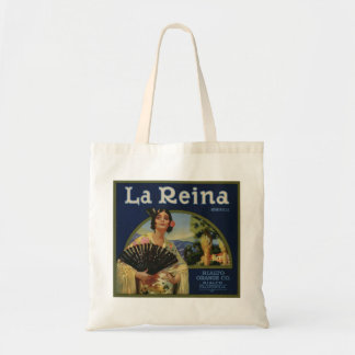 La Reina Orange Crate Label Canvas Bags