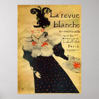 La reveu blanche by Toulouse-Lautrec Poster