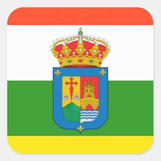 La Rioja (Spain) Flag Square Sticker