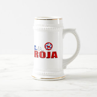La Roja Chile futbol logo for soccer fans Beer Steins