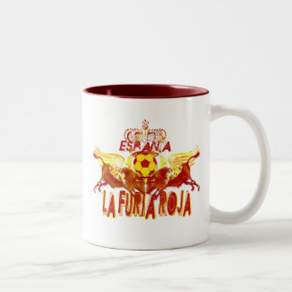 La Roja Twin Toros Raging Bulls futbol kings Two-Tone Mug