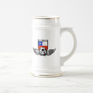 La Roja winged crest for Chile futbol fans Beer Steins