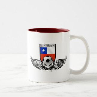 La Roja winged crest for Chile futbol fans Mugs