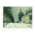 La Route de Louveciennes, Hiver, 1874 (oil on canv Postcard