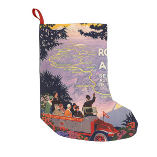 La route des Alpes Small Christmas Stocking