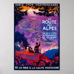 La Route Des Alpes Vintage PosterEurope Poster