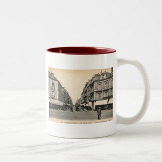 La Rue de Nantes, Saint Nazaire, France Vintage Two-Tone Coffee Mug