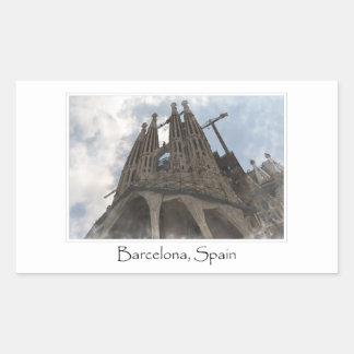La Sagrada Familia in Barcelona Spain Rectangular Sticker