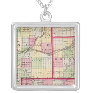 La Salle, Grundy, Livingston counties Silver Plated Necklace