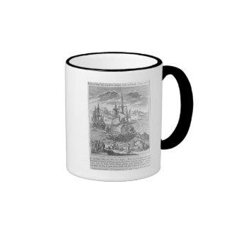 La Salle's Landing in Texas Ringer Mug