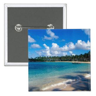 La Samana Peninsula, Dominican Republic, 2 15 Cm Square Badge