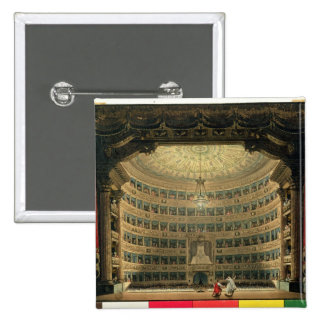 La Scala, Milan, during a performance 15 Cm Square Badge