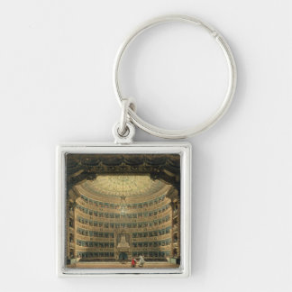 La Scala, Milan, during a performance Silver-Colored Square Key Ring