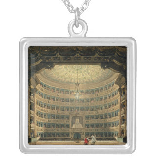 La Scala, Milan, during a performance Silver Plated Necklace