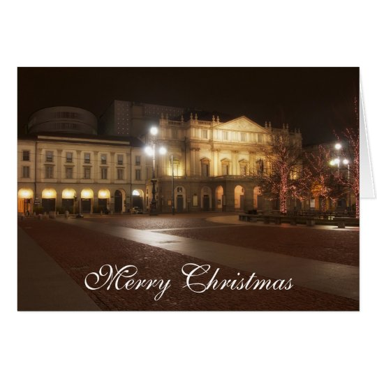 La Scala, Milan, Italy Christmas Greeting Card