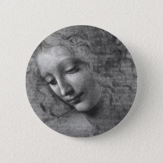 La Scapigliata by Leonardo da Vinci 6 Cm Round Badge
