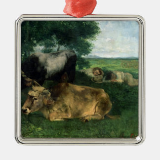 La Siesta Pendant la saison des foins , 1867, Christmas Ornament