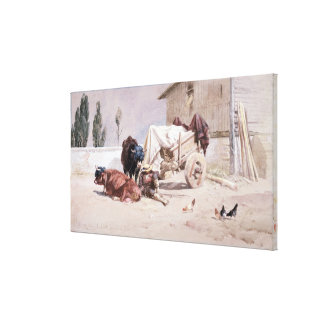 La Siesta: Scene in the Eastern Pyrenees, 1872 (w/ Canvas Print