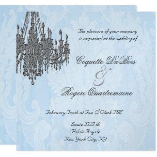 La Silver Sparkle Chandelier Invitations