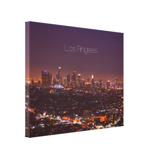 "LA Skyline 14"" x 11"", 1.5"", Single Canvas Print"