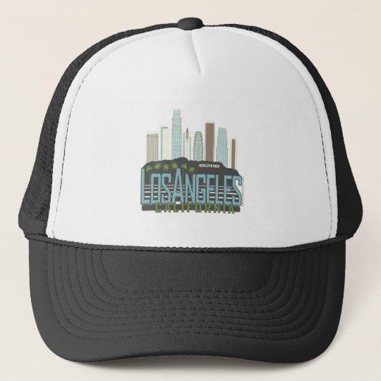 LA Skyline Vintage Trucker Hat