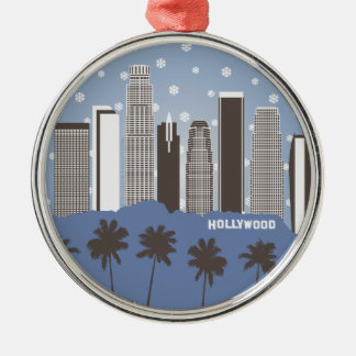 LA Snowflakes Christmas Ornament