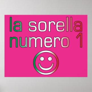 La Sorella Numero 1 - Number 1 Sister in Italian Poster