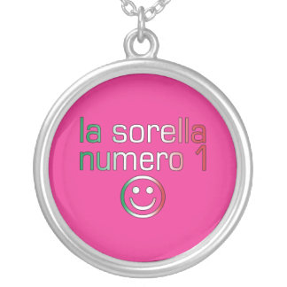 La Sorella Numero 1 - Number 1 Sister in Italian Silver Plated Necklace